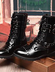 Для мужчин Ботинки Удобная обувь Полиуретан Повседневные Удобная обувь Черный Менее 2,5 см