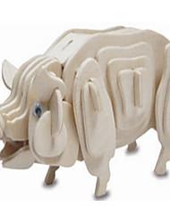 Puzzles Holzpuzzle Bausteine DIY Spielzeug Schwein 1 Holz Elfenbein