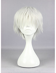 Popular Tokyo Ghoul Ken Kaneki 30cm Short Silvery Grey High Quality Synthetic Cosplay Wig