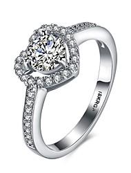 Anéis Casamento / Pesta / Diário / Casual Jóias Cobre / Chapeado Dourado Feminino Anel / Anel de noivado 1pç,6 / 7 / 8 / 9 Prateado