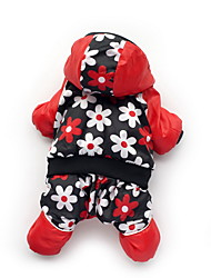Dog Coat Red Dog Clothes Winter Cartoon Cute / Casual/Daily /