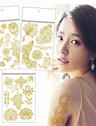 3 Tattoo Stickers Jewelry Series / Flower Series / Totem Series / Others / Romantic SeriesNon Toxic / Pattern / Lower Back / Waterproof /