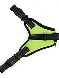Dog Collar / Harness Waterproof / Adjustable/Retractable / Breathable / Vest Solid Red / Black / Green / Orange Rubber