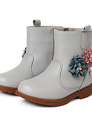 Girl's Boots Fall / Winter Comfort Leatherette Party & Evening / Dress / Casual Chunky HeelSatin Flower / Sparkling Glitter More Color Available