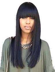 The Chic Long Straight Capless Wigs High Quality Human Hair
