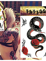 5 Tattoo Stickers Animal Series / Flower Series / Totem Series / OthersBaby / Child / Women / Men / Teen Flash Tattoo Temporary Tattoos