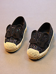 Girl's Loafers & Slip-Ons Others PU Casual Black White Gold