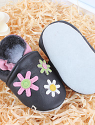 Girl's Flats Spring Summer Fall Winter Comfort Leather Casual Flat Heel Flower Others Black Others