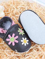 Girls' Baby Flats Comfort Leather Spring Summer Fall Winter Casual Comfort Flat Heel Black Flat
