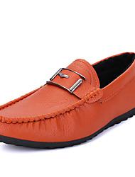Femme-Décontracté-Noir / Bleu / Orange-Talon Plat-Confort-Sneakers-Polyuréthane