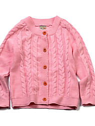 Girls' Casual/Daily Solid Sweater & Cardigan,Cotton Spring Fall Winter