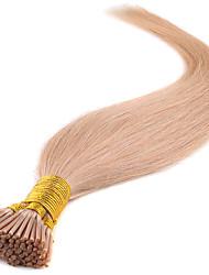 brasileiro virgem do cabelo da queratina 16-24 polegadas vara Remy / i ponta extensões de cabelo cabelo reto de seda na venda 100pieces /