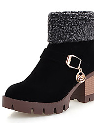 Women's Boots Fall / Winter / Combat Boots Fur / Fleece Party & Evening / Dress / Casual Chunky Heel Buckle / Fur