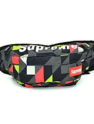Men Waist Bag Canvas Casual Outdoor Black Purple Green