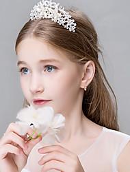 Femme Strass Cristal Inox Titane Casque-Mariage Occasion spéciale Décontracté Bureau & Carrière ExtérieurTiare Serre-tête Fleurs