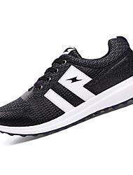 Femme-Décontracté / Sport-Noir / Bleu-Talon Plat-Confort-Chaussures d'Athlétisme-Tissu