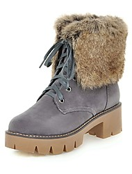 Women's Boots  / Winter Platform / Shoes & Matching Bags  Party & Evening / Casual Chunky Heel Fur Black / Gray / Beige