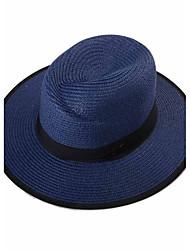 Chapeau de Paille / Chapeau de soleil Printemps / Eté Décontracté Paillette Unisexe
