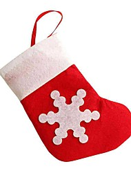 Christmas Cute Snow Pattern Socks Knife And Fork Cover