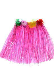 Elastic Dance Grass Skirt Children Hawaii Hula Dress Performance Skirt