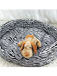 Cat / Dog Bed Pet Mats & Pads Tiger Pattern Soft Fabric White / Brown