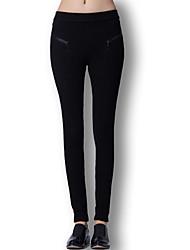 Pantaloni Da donna Skinny Sofisticato Lana / Cotone Elasticizzato