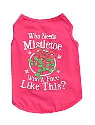 Cute Rose Who Needs Mistletoe With a Face Like This  Cotton Shirts for Pets Summer Dog Clothes