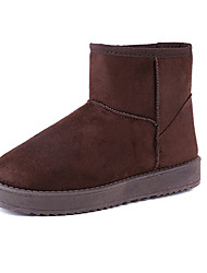 Women's Boots Winter Snow Boots / Round Toe Other Animal Skin Casual Others / Slip-on Black / Brown / Yellow