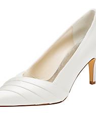 Damen-High Heels-Hochzeit / Kleid / Party & Festivität-Stretch - Satin-Stöckelabsatz-Others-Schwarz / Rosa / Rot / Elfenbein / Silber /