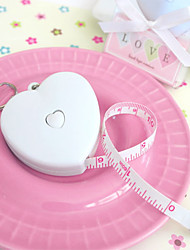 1pcs Heart Tape Measure Keychain Party Keepsakes Gifts