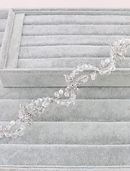 Women's Rhinestone Headpiece-Wedding / Special Occasion / Office & Career Tiaras / Headbands 1 Piece Clear