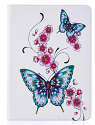 Butterfly Pattern Painted PU Leather Material Card Flat Shell for  ipad Air  Air 2