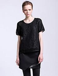 Damen Röcke - Einfach Übers Knie Baumwolle / Polyester Unelastisch