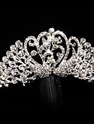Bride's Swan Rhinestone Wedding Hair Accessories Tiaras Hair Combs 1 Pieces