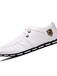 Men's Oxfords Spring / Fall Comfort PU Casual Flat Heel  Black / White / Black and White Sneaker