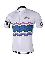 Sports QKI  Cycling Jersey Unisex Short SleeveBreathable / Quick Dry /Anatomic Design/ Reflective stripe