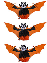 3PCS Halloween Ball For Party Decor Costume Party Gift Prop Novelty Ornaments Bat Hanging Pendant