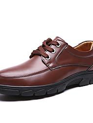 Herren-Sneaker-Lässig-Leder-Flacher Absatz-Komfort-Schwarz Braun
