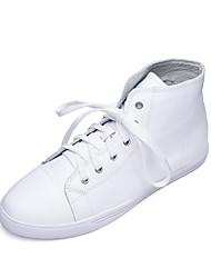 Homme-Décontracté-Blanc-Talon Plat-Confort-Ballerines-Cuir