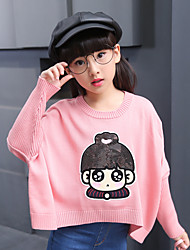 Girl's Casual/Daily Solid Sweater & CardiganCotton Fall Pink