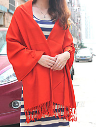 Women Acrylic Scarf,Casual Rectangle,Red / Black / Khaki