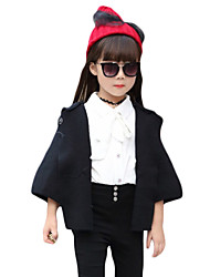 Girl's Casual/Daily Solid Trench CoatWool / Cotton Fall Black / Red / Gray