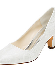 Damen-High Heels-Hochzeit / Kleid / Party & Festivität-Stretch - Satin-Blockabsatz-Others-Elfenbein