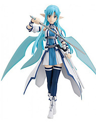 Sword Art Online Asuna Yuuki PVC 15cm Anime Action Figures Model Toys Doll Toy