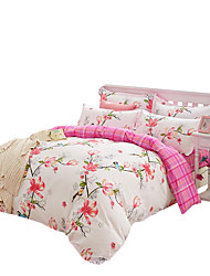 Mingjie  Wonderful Pink Flowers and Birds Bedding Sets 4PCS for Twin Full Queen King Size from China Contian 1 Duvet Cover 1 Flatsheet 2 Pillowcases