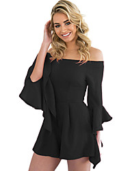 Off-shoulder Frill Sleeve Playsuit