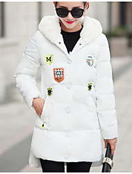 Sign # 6608 new labeling badges jacket women long section of lamb's wool hoodie jackets coat