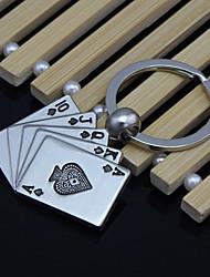 bon poker chance flush trousseau métalliques créatifs voiture hommes d 'accessoires clés
