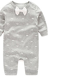 Baby Casual/Daily Plaid Clothing Set-Cotton-Fall-White / Gray