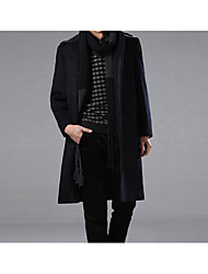 Men's Winter Trench Coat Shirt Collar
